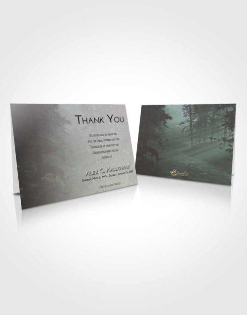 Funeral Thank You Card Template Morning Deer Hunt