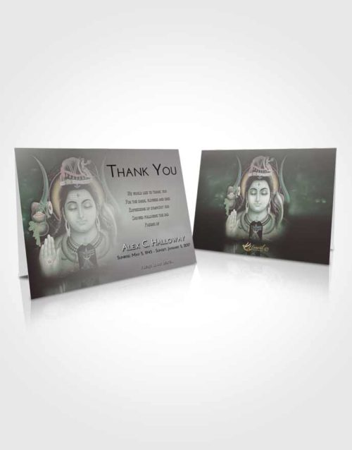 Funeral Thank You Card Template Morning Lord Shiva Dignity