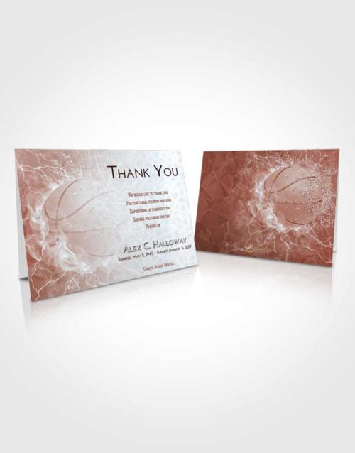 Funeral Thank You Card Template Ruby Love Basketball Heat
