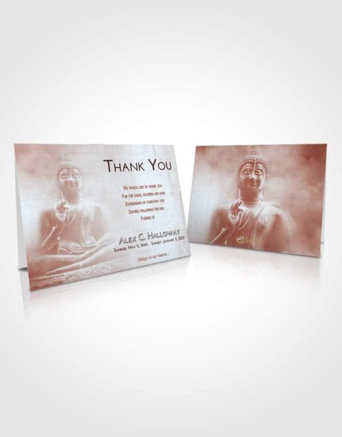 Funeral Thank You Card Template Ruby Love Buddha Desire