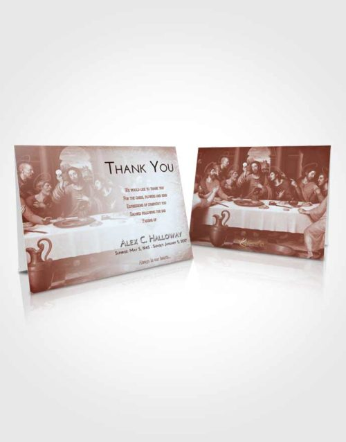 Funeral Thank You Card Template Ruby Love Jesus Last Supper