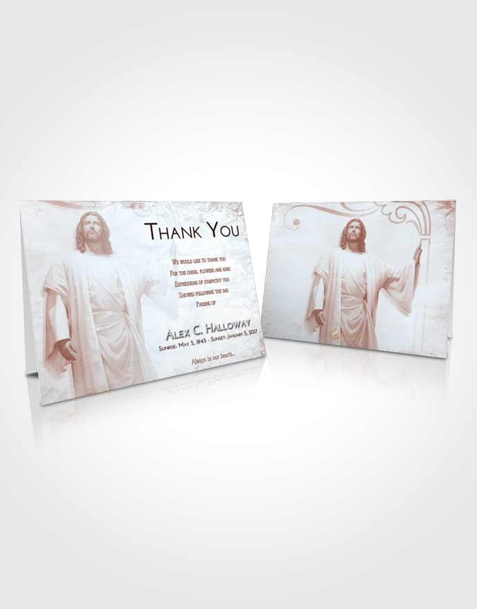 Funeral Thank You Card Template Ruby Love Jesus in the Clouds