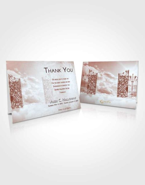Funeral Thank You Card Template Ruby Love Pearly Gates of Heaven