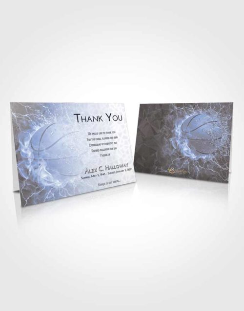 Funeral Thank You Card Template Splendid Basketball Heat