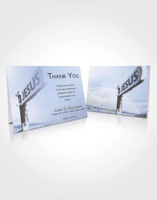Funeral Thank You Card Template Splendid Road to Jesus
