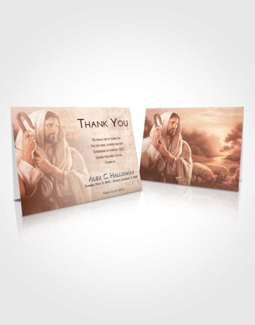 Funeral Thank You Card Template Strawberry Love Faith in Jesus