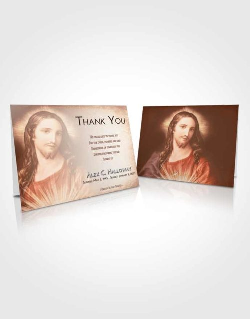 Funeral Thank You Card Template Strawberry Love Jesus Christ