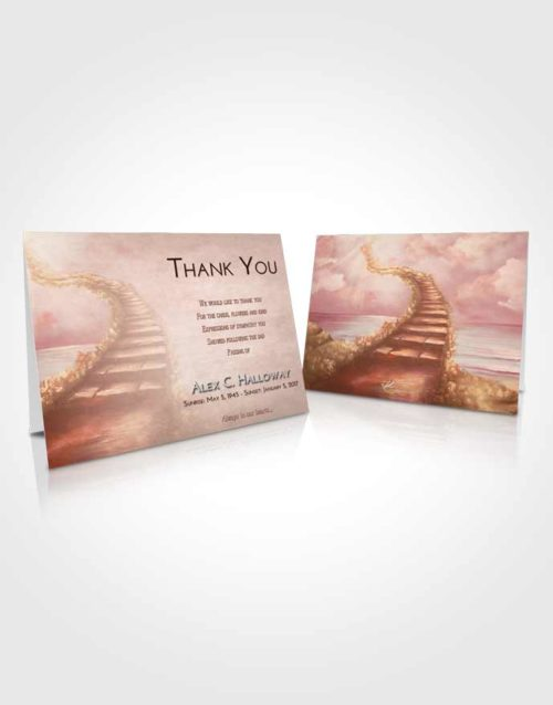 Funeral Thank You Card Template Strawberry Love Stairway Above