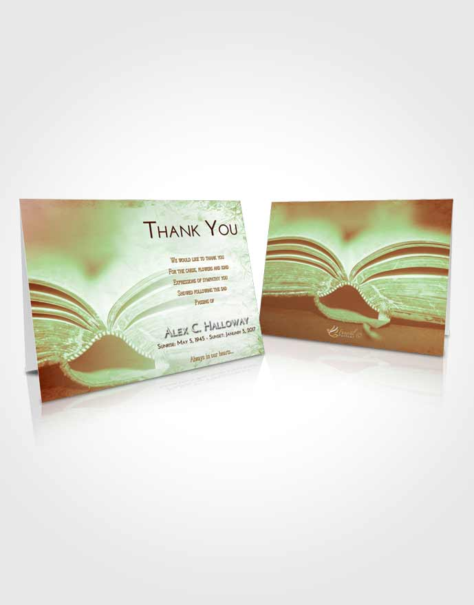 Funeral Thank You Card Template Strawberry Mist Bible Love