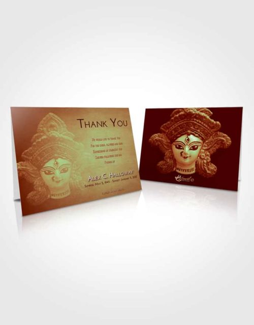 Funeral Thank You Card Template Strawberry Mist Durga Surprise