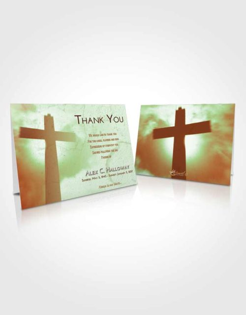 Funeral Thank You Card Template Strawberry Mist Faith in the Cross