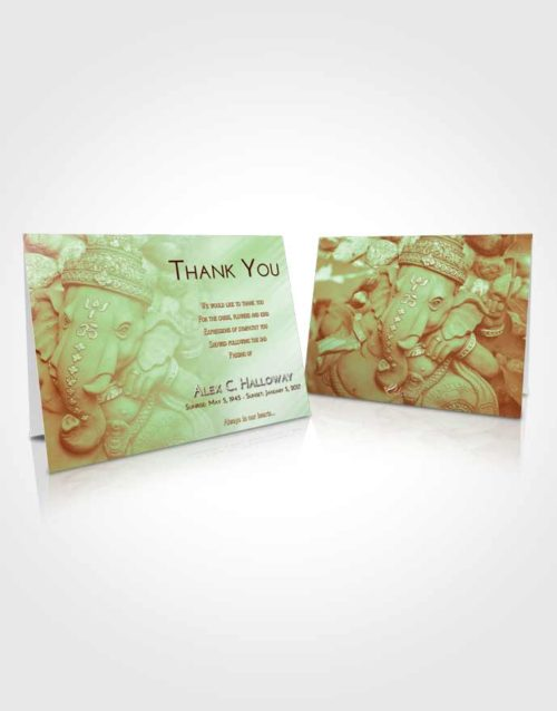 Funeral Thank You Card Template Strawberry Mist Ganesha Divinity