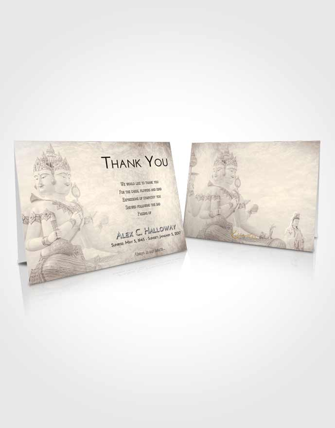 Funeral Thank You Card Template Tranquil Brahma Desire