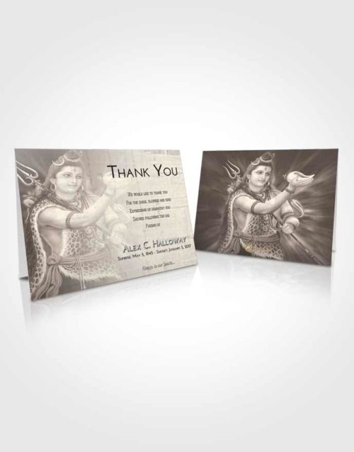Funeral Thank You Card Template Tranquil Lord Shiva Excellence
