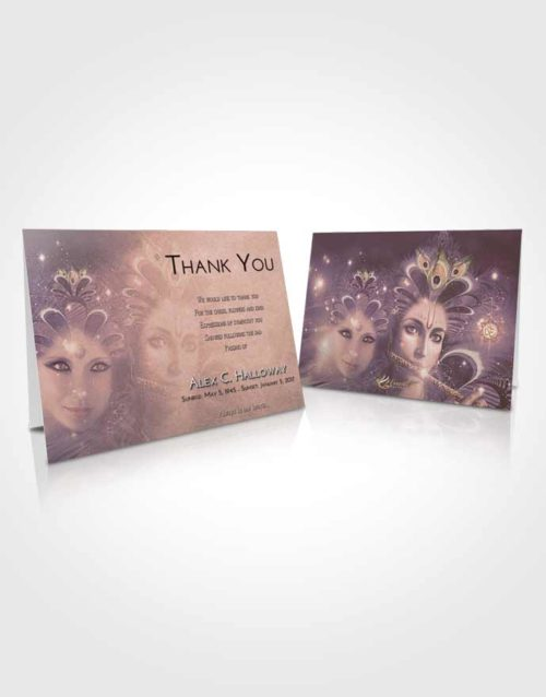 Funeral Thank You Card Template Vintage Love Hindu Desire