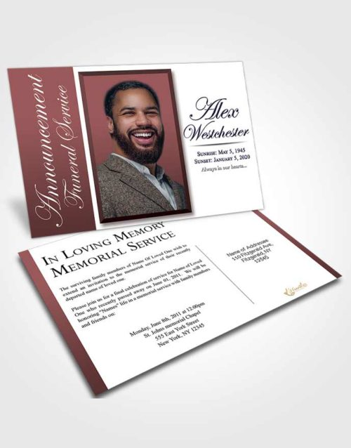 Funeral Announcement Card Template Morning Radiance