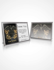Thank You Card Navy 09